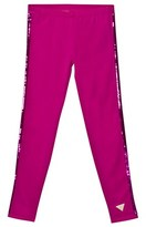GUESS Fuchsia Leggings with Glitter Stripes