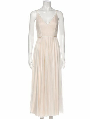 Jill by Jill Stuart V-Neck Long Dress White