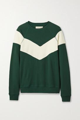 The Great The Sherpa Fleece-paneled Cotton-jersey Sweatshirt - Green