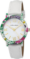 Laura Ashley Ladies White Band Floral Bezel Watch La31003Wt