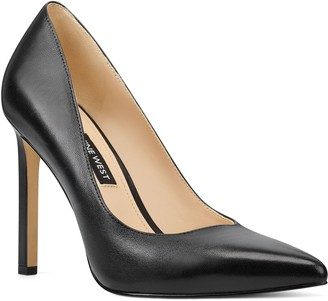 Nine West Leather Pointy-Toe Pumps - Tatiana