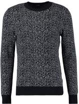 Calvin Klein Sacro Herringbone Jumper Mid Grey Heather