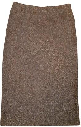 Pinko Green Cotton Skirt for Women