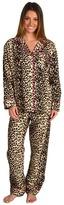 BedHead Cotton Flannel Classic PJ Set (Leopard) - Apparel
