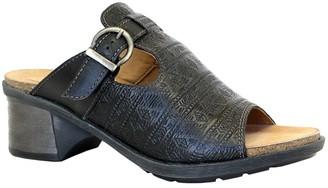 Dromedaris Adjustable Leather Slip-On Sandals -Sharon
