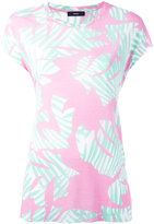 Diesel leaf print T-shirt - women - Viscose - XS