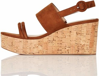 Find. Womens^Women's Cork Two Part Sling Back Wedge Open Toe Heels