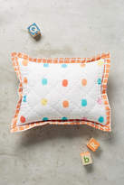 Anthropologie Dotingly Dotted Toddler Sham
