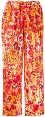 Marni Floral-Print Drawstring Trousers