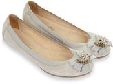 Accessorize Ella Jewelled Ballerina Flat Shoes