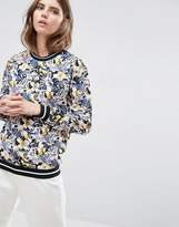 B.young Floral Woven Sweatshirt