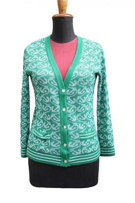 Hermes Green Cotton Knitwear