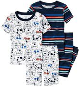 Carter's Toddler Boy Graphic Tee, Print Tee, Graphic Shorts & Printed Pants Pajama Set