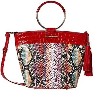 Brahmin Veracruz Mod Bowie Satchel (Ember) Handbags