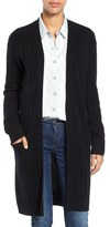 Halogen Rib Knit Merino Wool & Cashmere Cardigan (Regular & Petite)