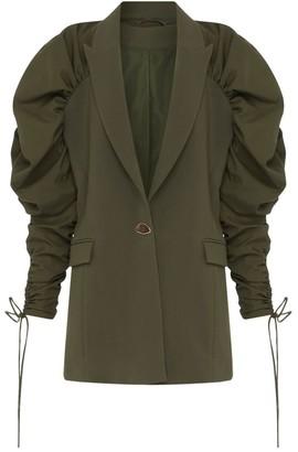 Aje Interface Ruffle Blazer Jacket