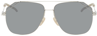 Fendi Silver Aviator Sunglasses