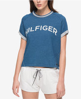 Tommy Hilfiger Cuffed-Sleeve Graphic T-Shirt, a Macy's Exclusive Style