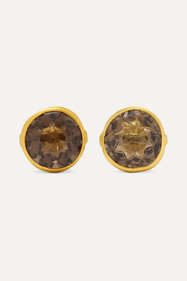 Pippa Small 18-karat Gold Quartz Earrings