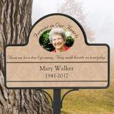 Forever in Our Hearts Custom Photo Memorial Magnetic Garden Sign