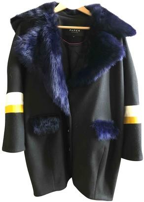 Paper London Black Wool Coat for Women