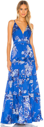 IORANE Blue Bird Long Dress