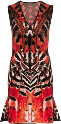 Alexander McQueen Butterfly Jacquard Mini Dress