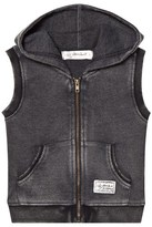I Dig Denim Dark Grey Egon Sleeveless Baby Jacket
