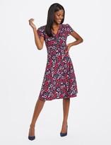 Draper James Floral Yoke Trimmed Dress