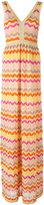 M Missoni zigzag V-neck dress - women - Cotton/Polyamide/Polyester/Metallic Fibre - 42