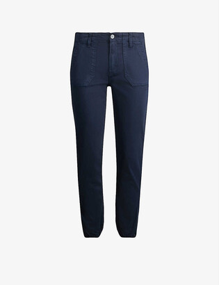 Paige Mayslie mid-rise woven tapered jogging bottoms