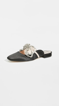 No.21 Crystal Embroidered Flats