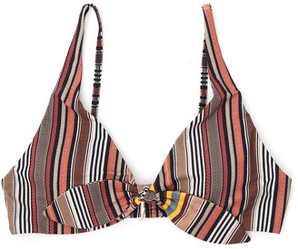 Tory Burch Striped Bow Bikini Top