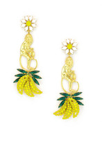 Elizabeth Cole Plantain Earrings