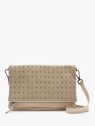 Mint Velvet Holly Leather Stud Cross Body Bag, Camel
