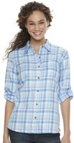 Dickies Women's Plaid Button-Down Shirt