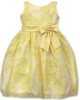 Jayne Copeland Floral-Print Organza Dress, Little Girls