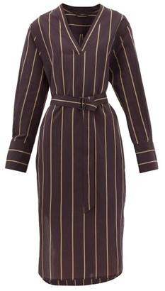 Joseph Janis Striped Cotton-blend Tunic Dress - Black Multi