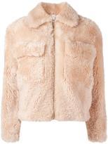 Helmut Lang 'Teddy' cropped jacket