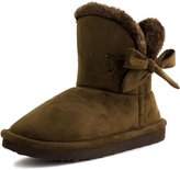 Kali Womens Flat Ribbon Winter Fur Ankle Faux Suede Ankle Boots 11