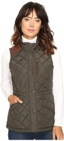 Lauren Ralph Lauren Faux Leather Trim Quilted Vest Women's Vest