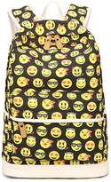 Tibes Canvas Cute Backpack Student School Backpack 3pcs Bookbag