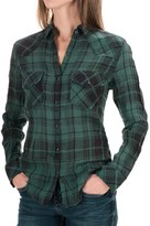 Seven7 Relaxed Fit Plaid Shirt - Snap Front, Long Sleeve (For Women)