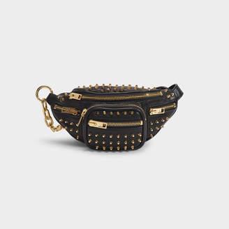 Alexander Wang Attica Soft Mini Fanny Crossbody Bag In Black Lamb Nappa Leather