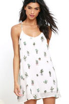 Obey Paint Bloom Ivory Print Shift Dress