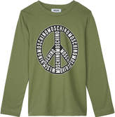 Moschino Logo long-sleeved cotton top 4-14 years