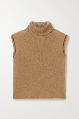 The Row Giselle Cashmere Turtleneck Sweater - Brown