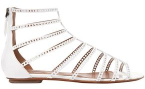 Alaia Laser-cut Patent-leather Sandals