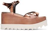 Stella McCartney Copper Platform Star Elyse Sandals