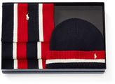 Polo Ralph Lauren Striped Hat & Scarf Gift Set